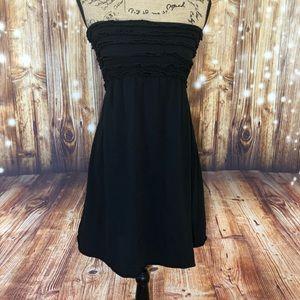 Xhilaration black bathing suit cover up size large